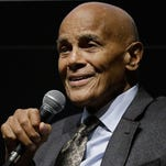"Harry Belafonte attends  ""The Deeper They Bury Me"" Interactive during the 53rd New York Film Festival at Elinor Bunin Munroe Film Center on September 27, 2015 in New York City."