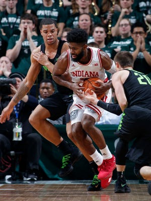 IU's Robert Johnson scored 21 points  in Friday's road defeat at Michigan State; the ninth-straight game in which Johnson has scored in double figures.