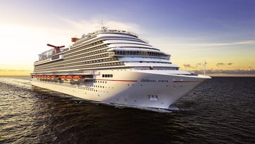 Carnival Cruise Line's next ship, the Carnival Vista, as seen in an artist's drawing.