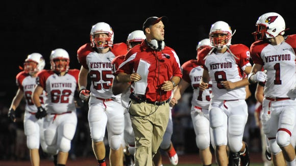 Vito Campanile, pictured here in 2011 at Westwood, will become the next head coach at Bergen Catholic.