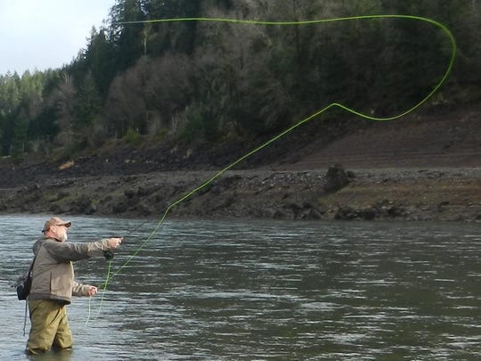 Leroy Shepherd shows form and function during one of the Santiam Flycasters' monthly outings. And you can learn, too, on Aug. 9 in Salem.