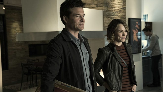 "Jason Bateman and Rachel McAdams in ""Game Night."""