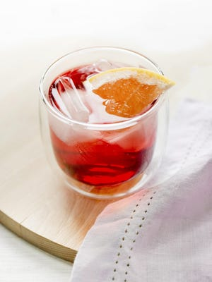 A hibiscus fizz nonalcoholic cocktail, which uses apple cider, a favorite of CAFE 541 drink columnist Joe Kiefer-Lucas.