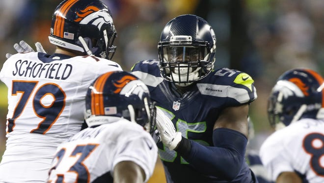 Seahawks defensive end Frank Clark.