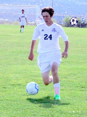 Silver's Daniel Gruska tallied two goals during action against Las Cruces High on Tuesday afternoon at the Ben Altamirano Sports Complex.