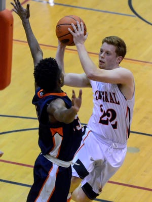 Nathan Markey is one of the senior leaders on the Central York boys' basketball team.