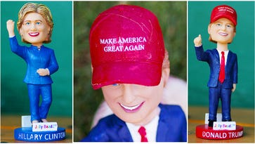 Trump, Clinton vie for 'bobblection' at Miracle game