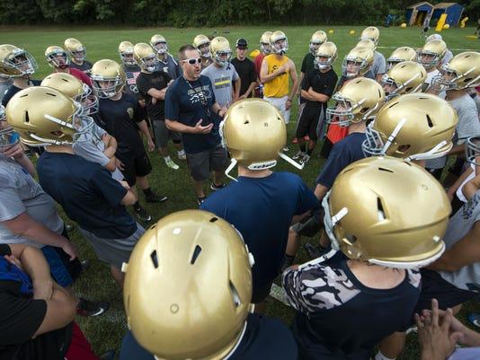 Essex Varsity Football Practice 08/15/16