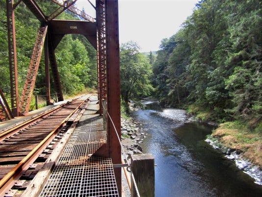 Salmonberry River railroad trail