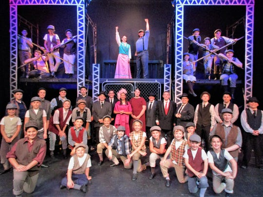 "Cast 2 of ""Newsies"" at the Endicott Performing Arts"