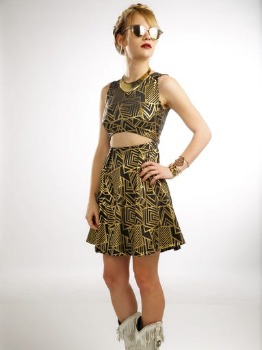 Look 1: Cut Out Skater Dress: Dame & Maiden, $115.