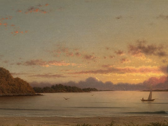 """""""Dawn"""" by Martin Johnson Heade was painted in 1862."""
