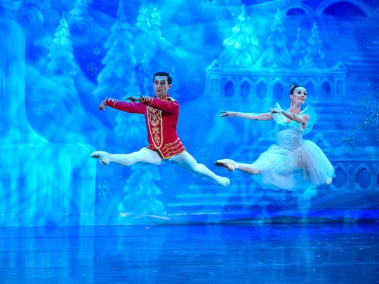 Members of the Moscow Ballet dance in the group's production of The Great Russian Nutcracker.
