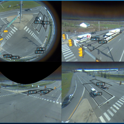 This is a view of what Gridsmart sees at an intersection.