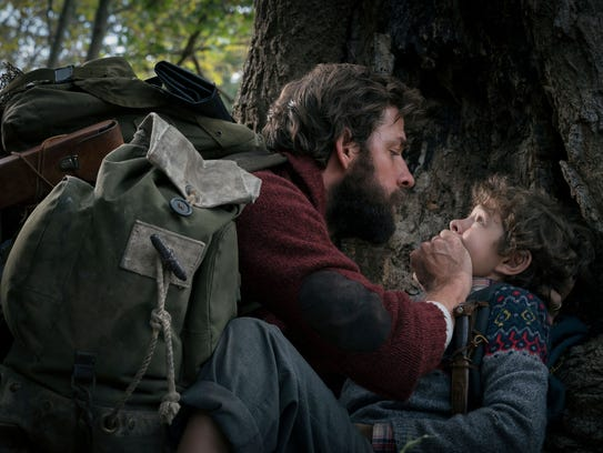 John Krasinski, left, and Noah Jupe play a father and