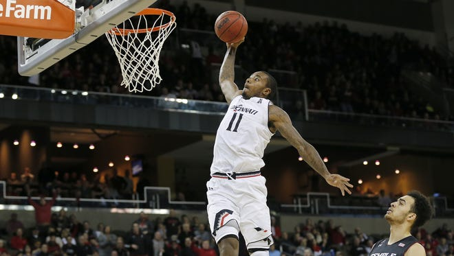 Cincinnati Bearcats forward Gary Clark will lead No. 2 NCAA Tournament South Regional seed UC against No. 15 seed Georgia State in a first-round game Friday in Nashville. Clark was named both the AAC regular-season Player of the Year and league tournament MVP.