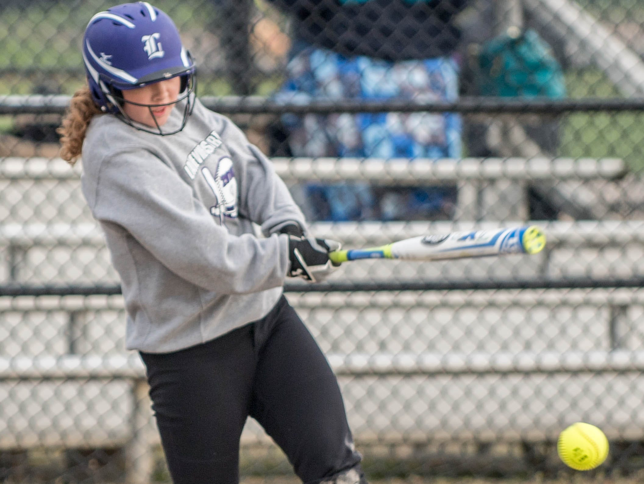 Lakeview's Kim Kucharczky get a hit during the Gull Lake Invitational on Saturday.