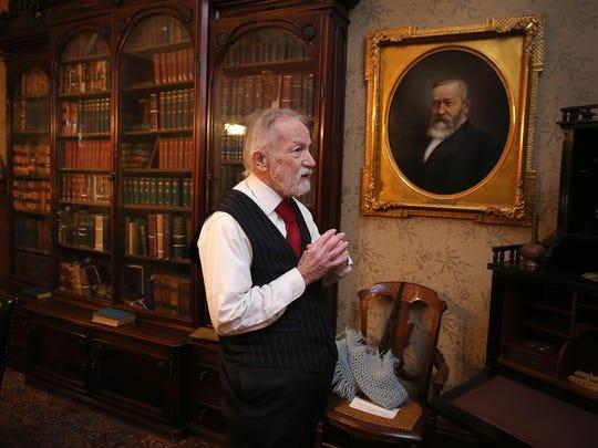 Reenactor Ed Myers, as President Benjamin Harrison