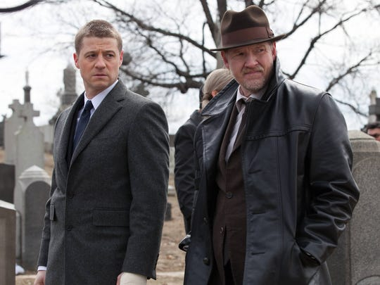 "Ben McKenzie, left, and Donal Logue appear in a scene from ""Gotham,"" premiering Sept. 22."