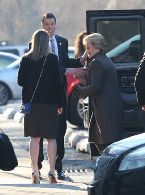 Hillary Clinton arrives at 1133 Westchester Avenue for a fundraising breakfast, Jan. 28, 2016.