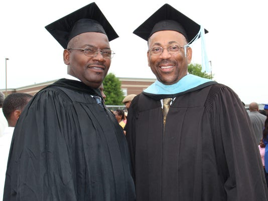 School Bd Chairman Johnny Brown and Superintendent Dwight Luckett, Sr.