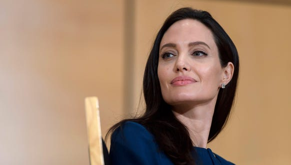 Angelina Jolie attends the Annual Lecture of the Sergio