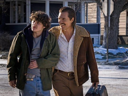"It's father (Matthew McConaughey) and son (Richie Merritt) in ""White Boy Rick."""