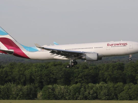 File photo of Lufthansa Group budget carrier, Eurowings.