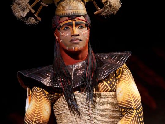 "L. Steven Taylor stars as Mustafa in ""The Lion King"" on Broadway."