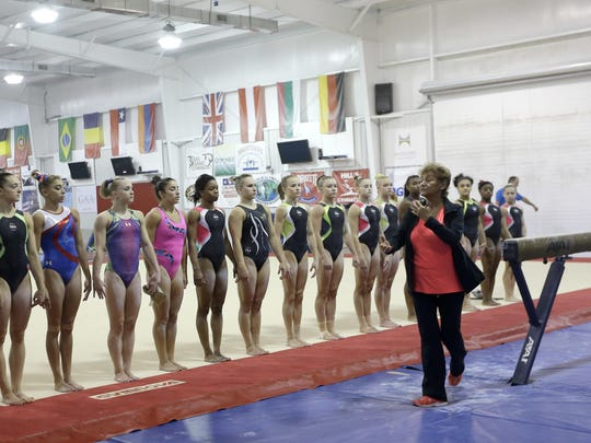 In this Sept. 12, 2015, file photo, Martha Karolyi,