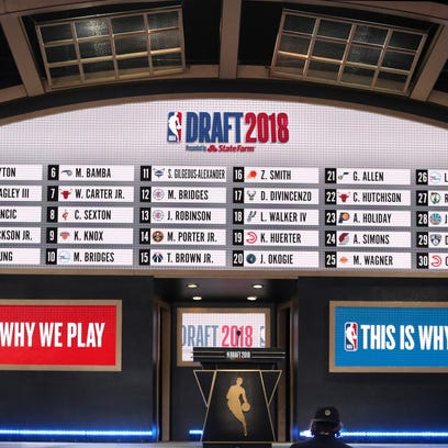 Picks 1-30 are seen at the conclusion of the first
