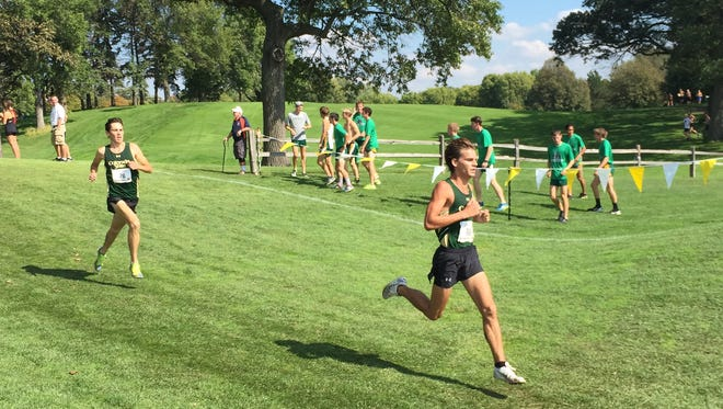 CSU cross-country runners Jefferson Abbey and Jerrell Mock finished first and second at Saturday's Roy Griak Invitational in Minneapolis, Minnesota.