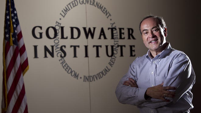 Clint Bolick,vice president for litigation for the Goldwater Institute, says he feared a letter he sent asking the state to relax restrictions in wine shipping might have accidentally spurred this summer's crackdown on wine shipping. Photo by Tom Tingle/The Arizona Republic