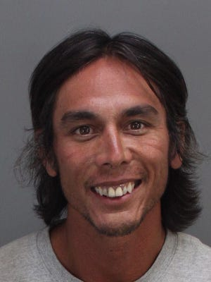 Travis Corn, 38, was arrested Thursday in Palm Springs.