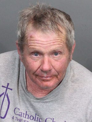 Robert Moffett, 65, was booked into the Washoe County jail on assault with a deadly weapon charge following a verbal fight Monday with employees at the men's shelter on Record Street. All arrested are innocent until proven guilty. Bail set at $20,000.