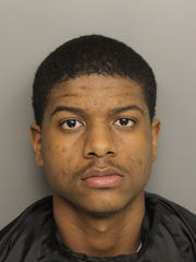 Daquavious Harris Sweeney, 19, is charged in connection with an armed robbery and attempted armed robbery that occurred in downtown Greenville on April 24, 2018.
