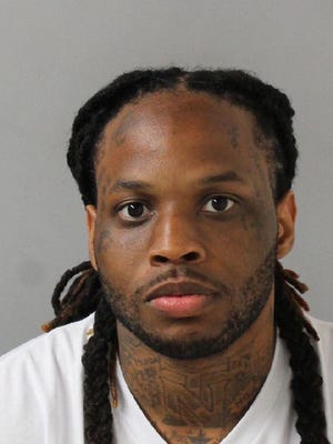 Laquan Redmon, 28, just arrested for the July 17th murder of Adrian Montgomery, 27, on Maplewood Trace in East Nashville.  East Precinct Flex officers apprehended Redmon near N. 6th Street.
