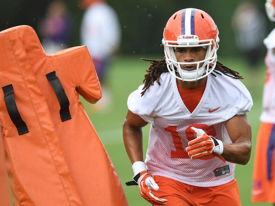 Clemson wide receiver T.J. Chase (18) will look to earn playing time in 2017 after redshirting in 2016.