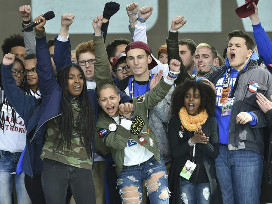 Marjory Stoneman Douglas High School students during the March for Our Lives rally in Washington, D.C.