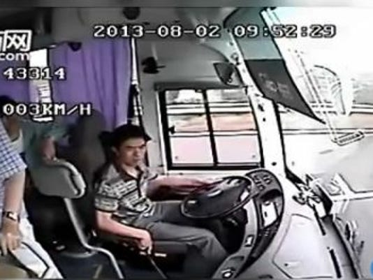 Watch: Horrific bus crash in China
