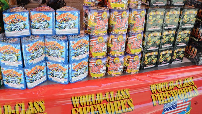 Some of the fireworks available from Nonstop Fireworks, at the intersection of Capital Southwest and Columbia avenues, in 2012.