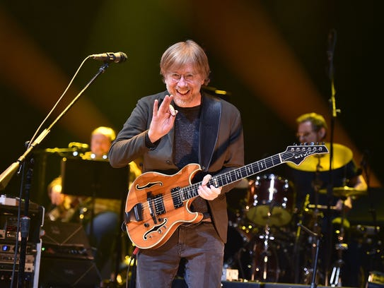 """Trey Anastasio performs during """"A Concert For Island"""