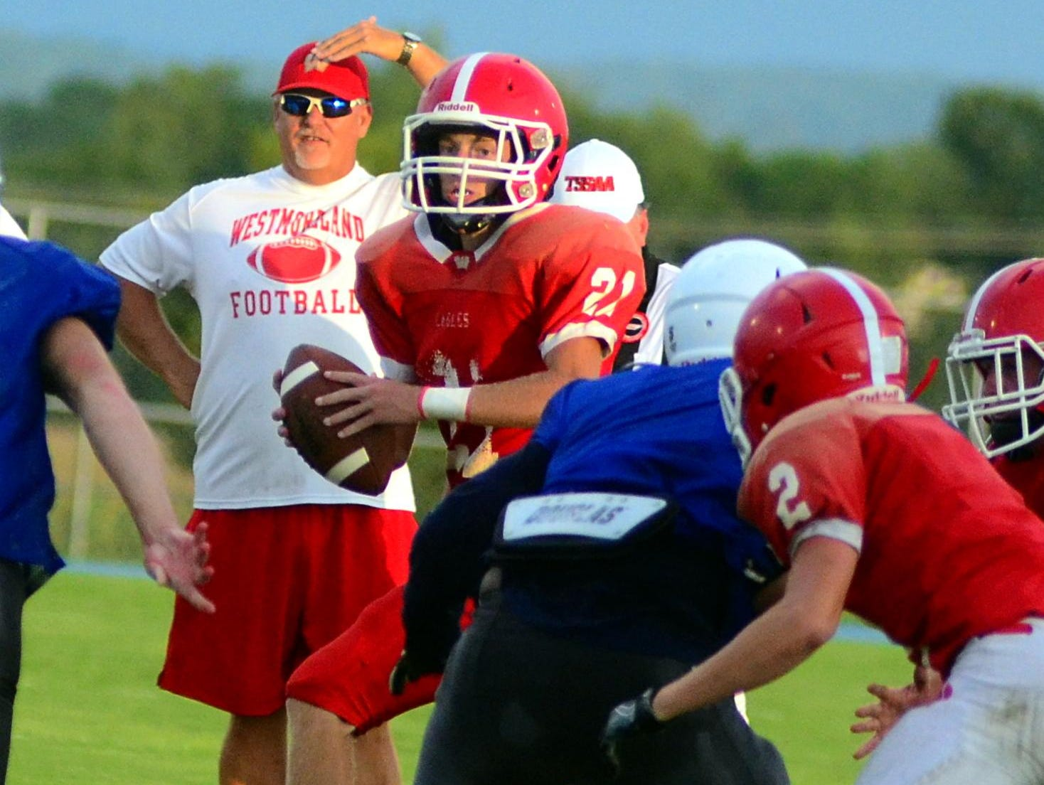 Senior Blake Carter is expected to be Westmoreland's starting quarterback for head coach Steve Harris.