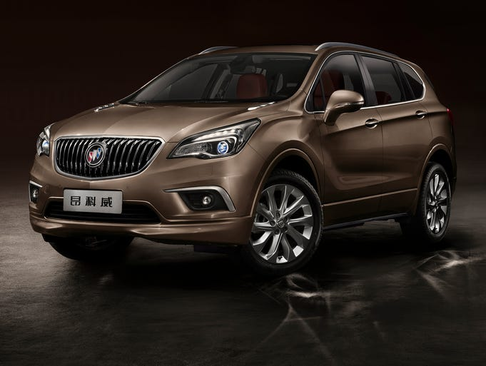 """The new Buick Envision midsize SUV unveiled this week at the Chengdu (China) Auto Show. The Envision (Chinese name """"Ang Ke Wei"""") launches now in China and could be headed for the U.S. in the future."""
