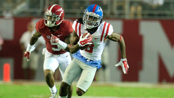 Quincy Adeboyejo and the Ole Miss receivers will look to find success against FSU's stockpile of defensive back talent.