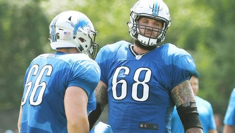Taylor Decker is listed as the starting left tackle on the Detroit Lions' first depth chart of the preseason.