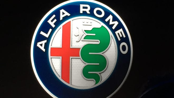 The updated Alfa Romeo logo that was revealed on June 24 in Milan as part of the commemoration of the brand's 105th anniversary.