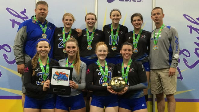 The Xcel 18X Select volleyball team.