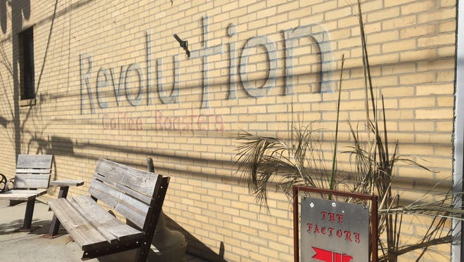 A chalk drawing for Revolution Roasters outside The Factory has drawn the attention of Collingswood zoning officials.