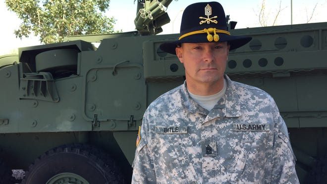 Command Sgt. Maj. Josh Bitle is the new senior enlisted leader for 6th Squadron, 1st Cavalry Regiment.